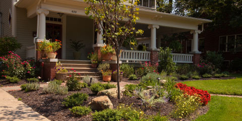 residential garden design by The Grey Barn